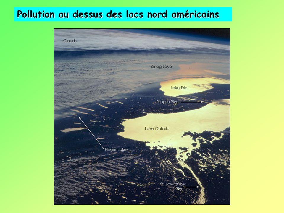 Pollution au dessus des lacs nord américains