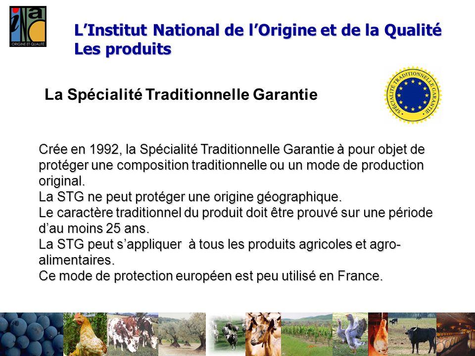 La Spécialité Traditionnelle Garantie Crée en 1992, la Spécialité Traditionnelle Garantie à pour objet de protéger une composition traditionnelle ou u