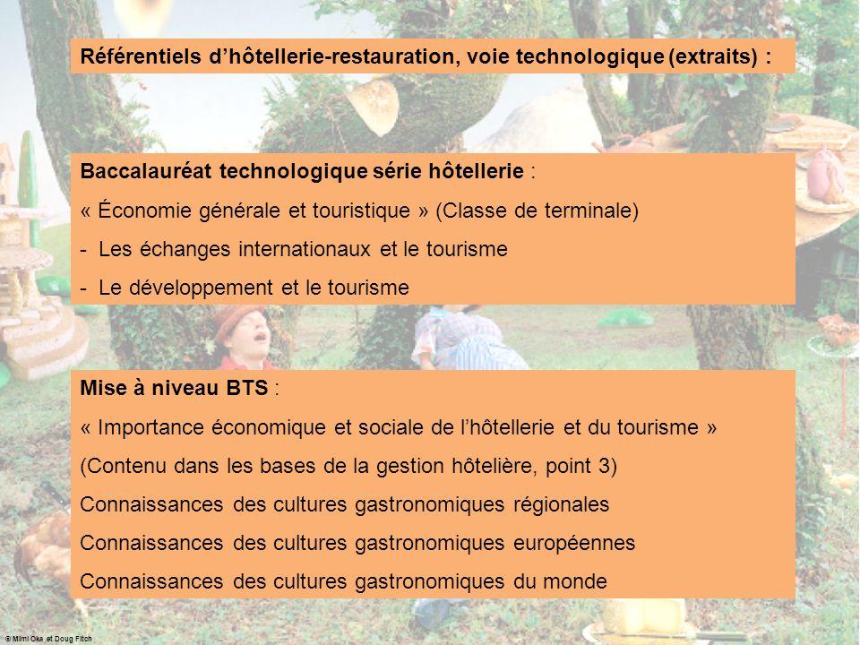 Mise à niveau BTS : « Importance économique et sociale de lhôtellerie et du tourisme » (Contenu dans les bases de la gestion hôtelière, point 3) Conna