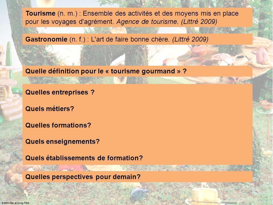Quelle définition pour le « tourisme gourmand » ? Quelles entreprises ? Quels métiers? Quelles formations? Quels enseignements? Quels établissements d