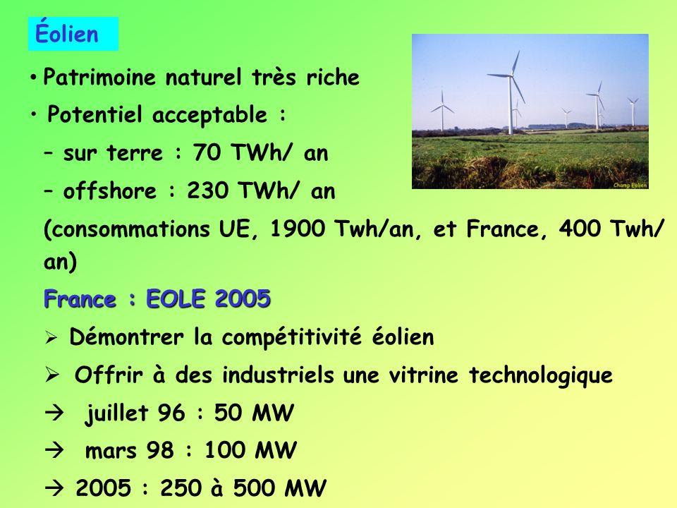HYDROÉLECTICITÉ de la production électrique GRANDE HYDROÉLECTRICITÉ Barrages et lacs de montagne (Mont Cenis : 600 GWh/an) Barrages sur fleuve (Rhin :