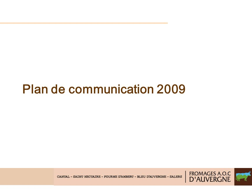Plan de communication 2009