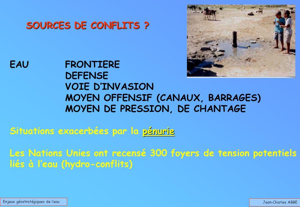 Jean-Charles ABBE Enjeux géostratégiques de leau SOURCES DE CONFLITS .