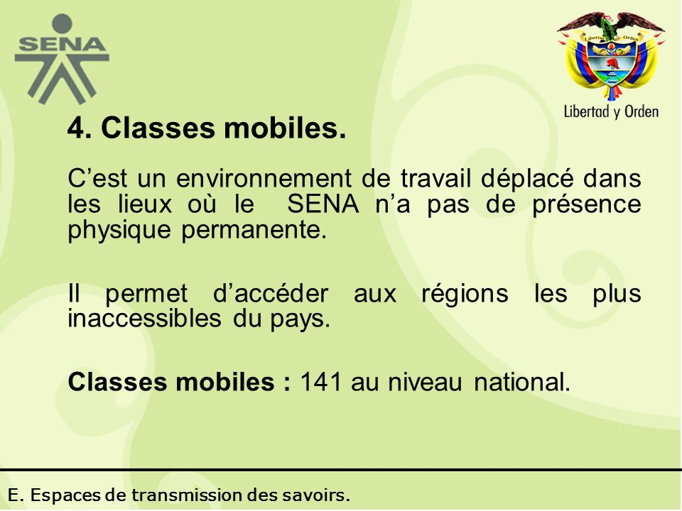 4. Classes mobiles.