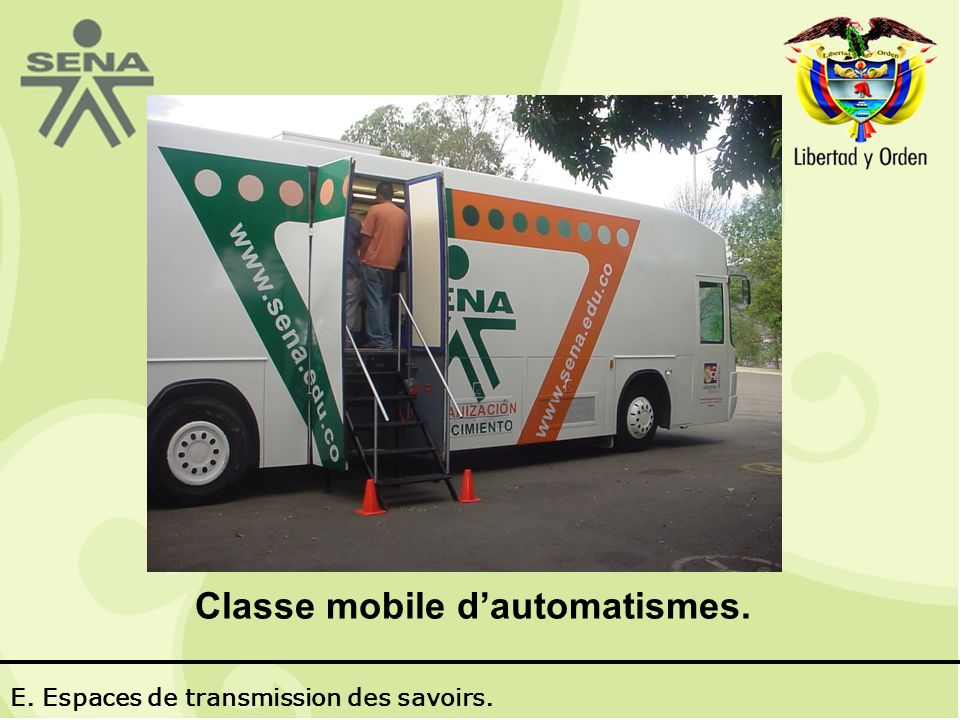 Classe mobile dautomatismes. E. Espaces de transmission des savoirs.