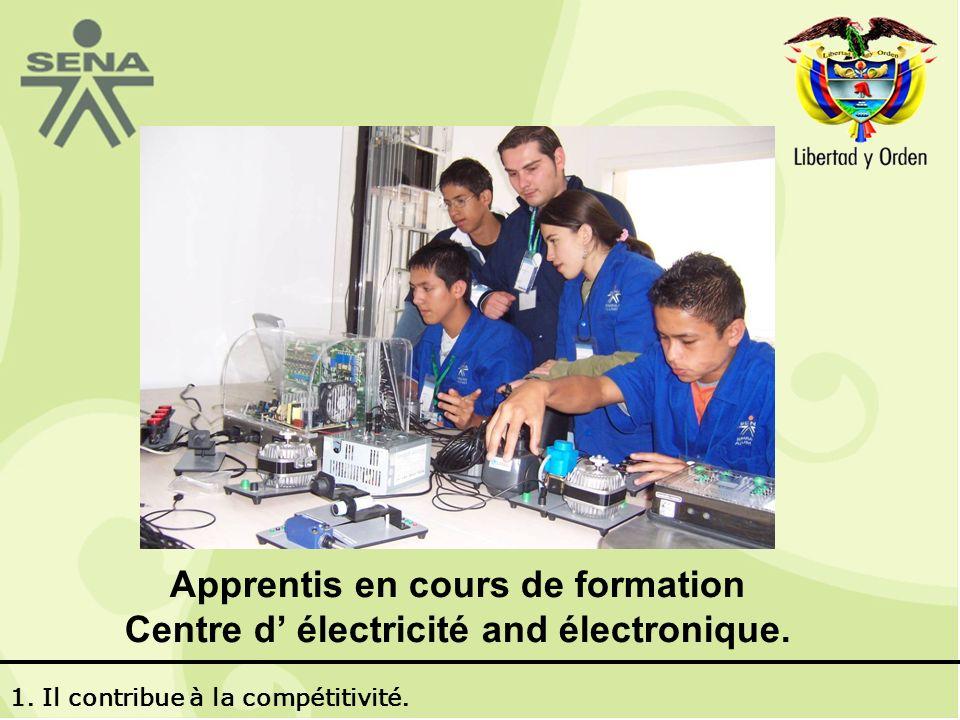 Apprentis en cours de formation Centre d électricité and électronique.