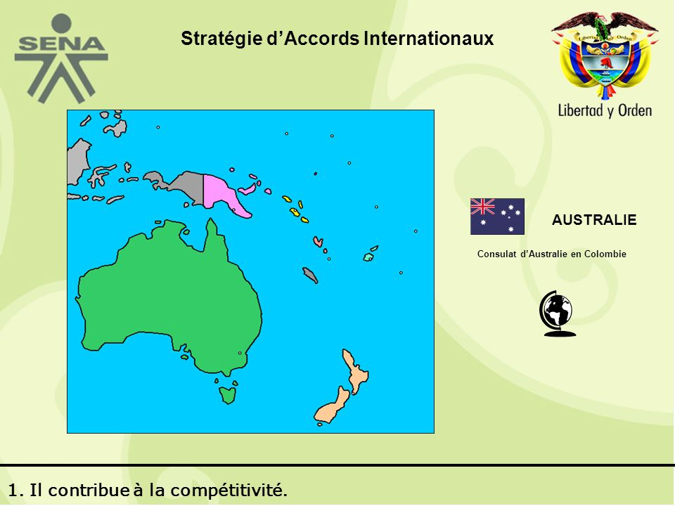 AUSTRALIE Consulat dAustralie en Colombie 1. Il contribue à la compétitivité.