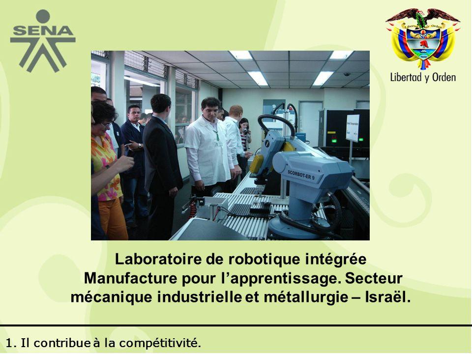Laboratoire de robotique intégrée Manufacture pour lapprentissage.