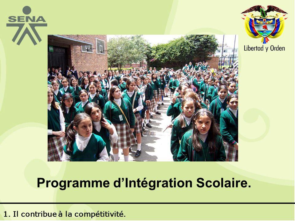 Programme dIntégration Scolaire. 1. Il contribue à la compétitivité.