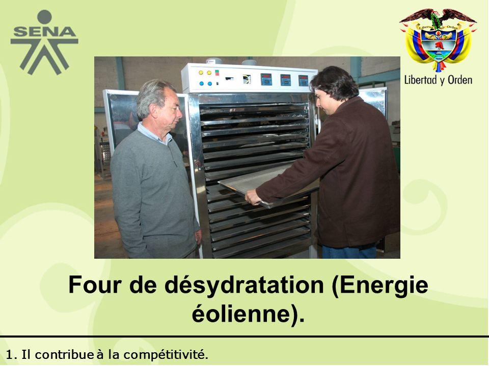 Four de désydratation (Energie éolienne). 1. Il contribue à la compétitivité.