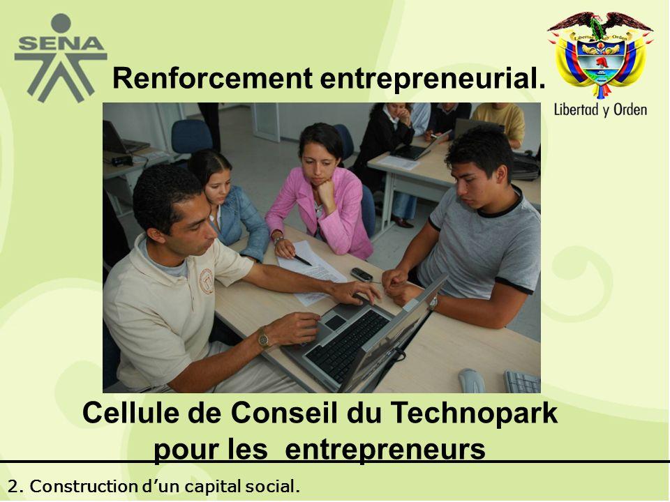 Renforcement entrepreneurial. Cellule de Conseil du Technopark pour les entrepreneurs 2.