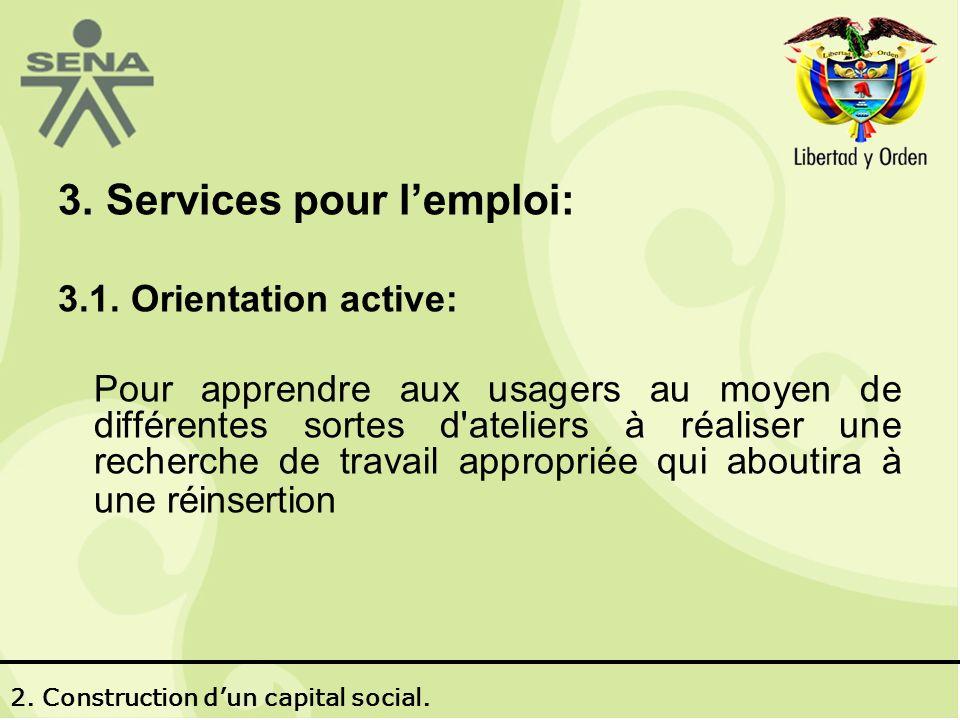 3. Services pour lemploi: 3.1.