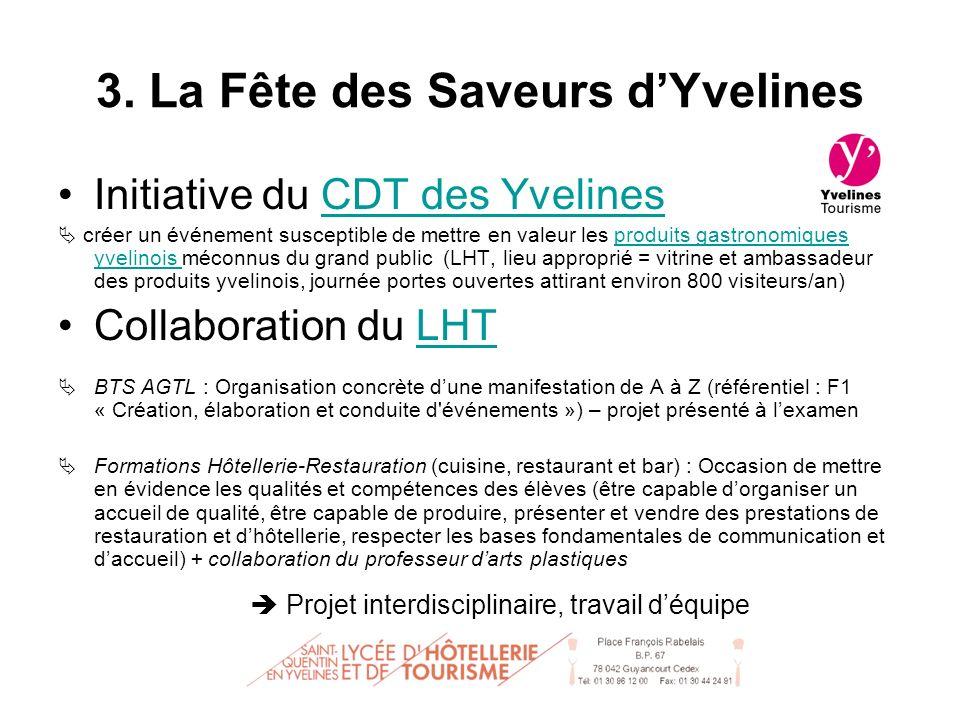 Initiative du CDT des YvelinesCDT des Yvelines créer un événement susceptible de mettre en valeur les produits gastronomiques yvelinois méconnus du gr