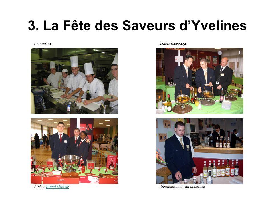 3. La Fête des Saveurs dYvelines En cuisineAtelier flambage Atelier Grand-MarnierGrand-MarnierDémonstration de cocktails