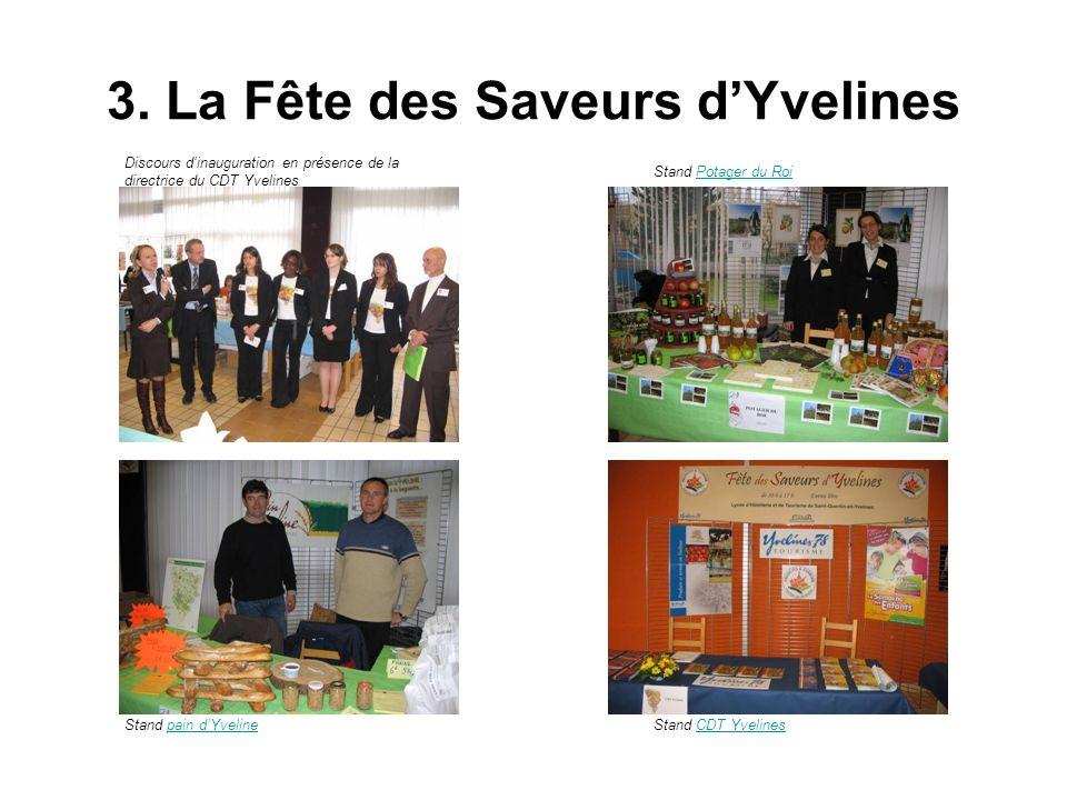 3. La Fête des Saveurs dYvelines Discours dinauguration en présence de la directrice du CDT Yvelines Stand pain dYvelinepain dYvelineStand CDT Yveline