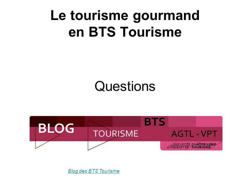 Questions Blog des BTS Tourisme