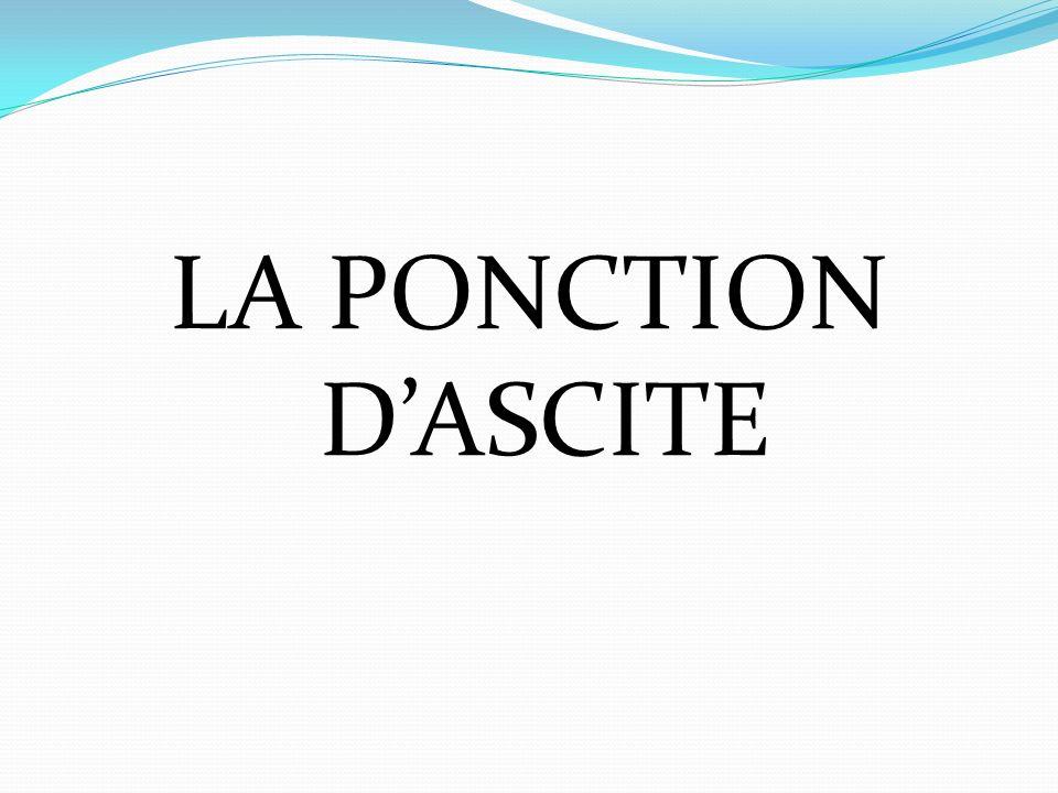 LA PONCTION DASCITE