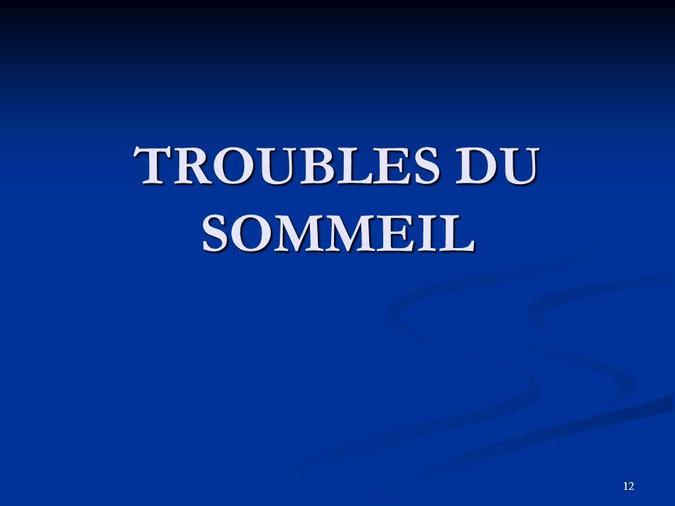 12 TROUBLES DU SOMMEIL