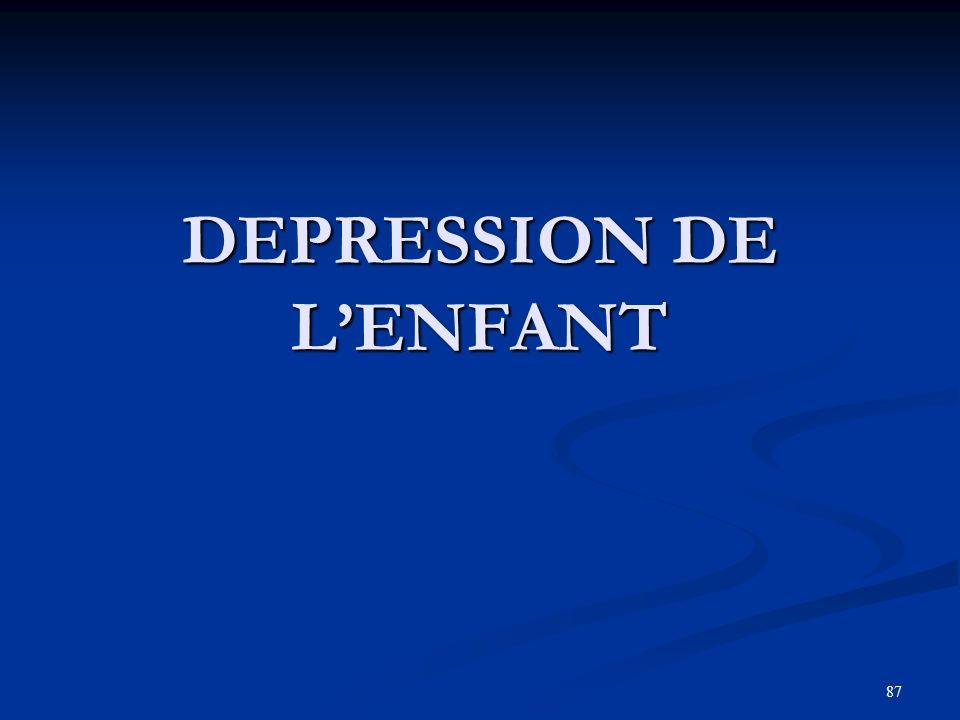 87 DEPRESSION DE LENFANT