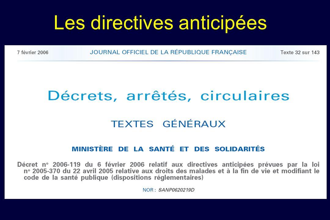 Les directives anticipées