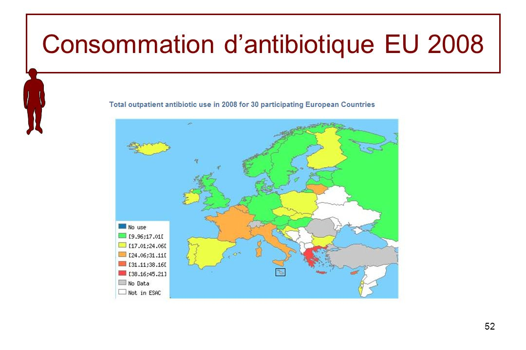 52 Consommation dantibiotique EU 2008