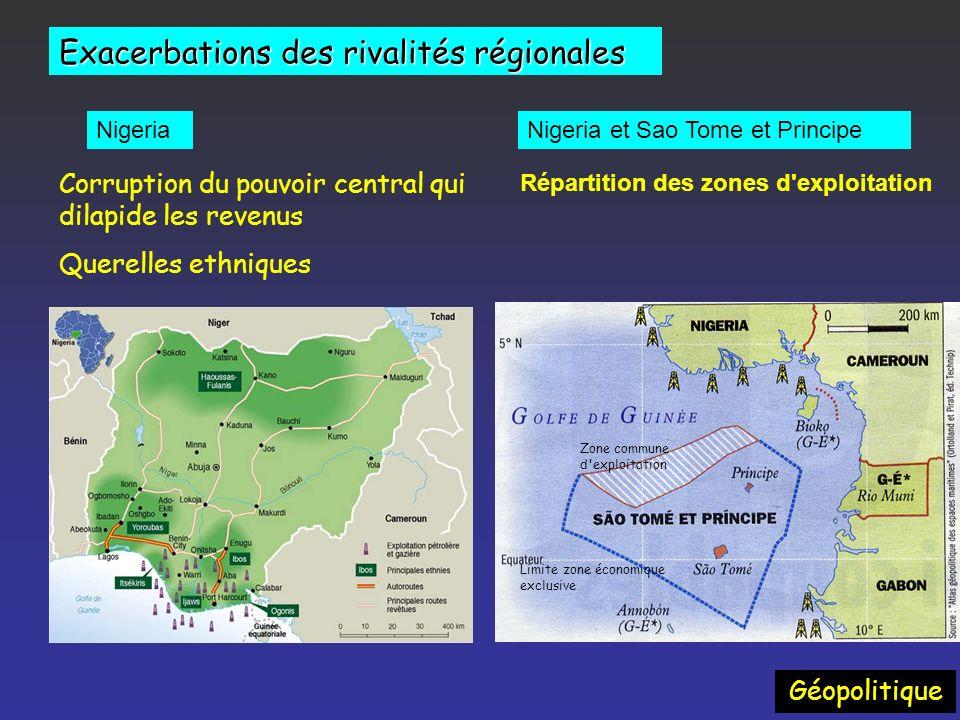 Exacerbations des rivalités régionales Géopolitique Irak / Kurdistan - 7 nouveaux contrats pétroliers signés en novembre 2007. - 20 Cies étrangères -