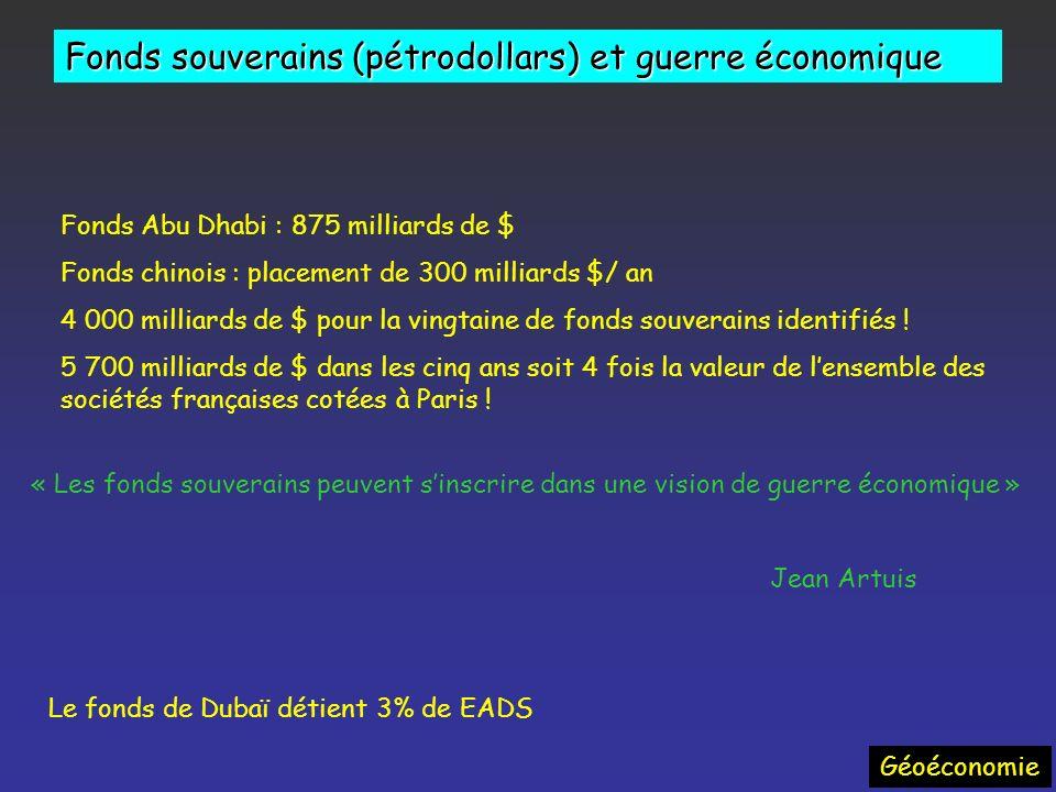 Géoéconomie Impact économique : variabilité des prix 1970 - 2008