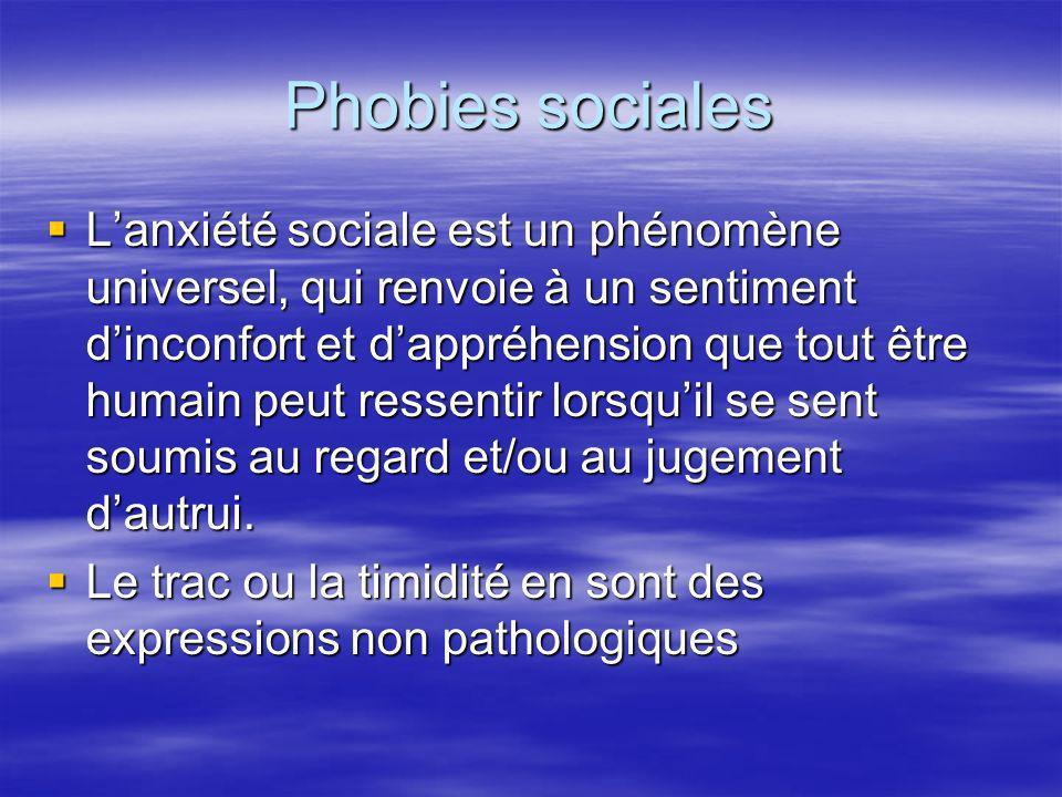 Phobies sociales Lanxiété sociale est un phénomène universel, qui renvoie à un sentiment dinconfort et dappréhension que tout être humain peut ressent