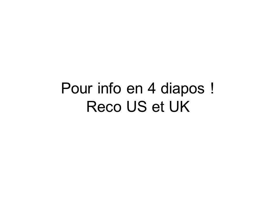 Pour info en 4 diapos ! Reco US et UK
