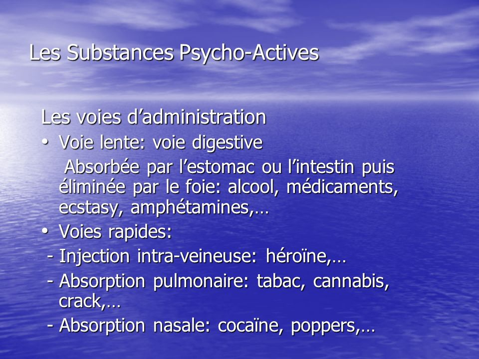 Les Substances Psycho-Actives LA COCAINE LE CRACK : un de ses dérivés