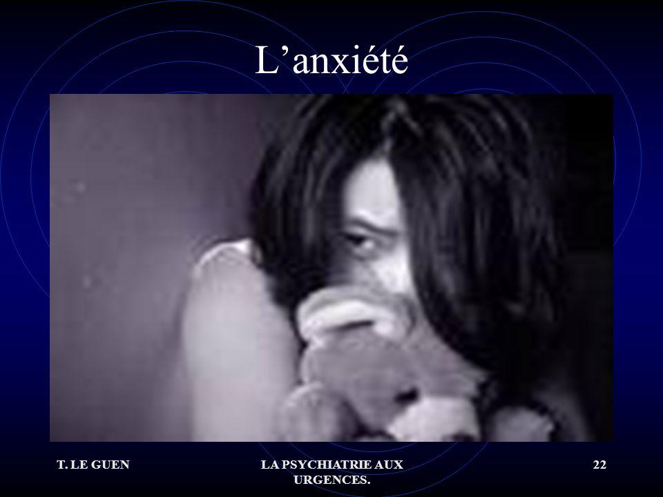 T. LE GUENLA PSYCHIATRIE AUX URGENCES. 22 Lanxiété