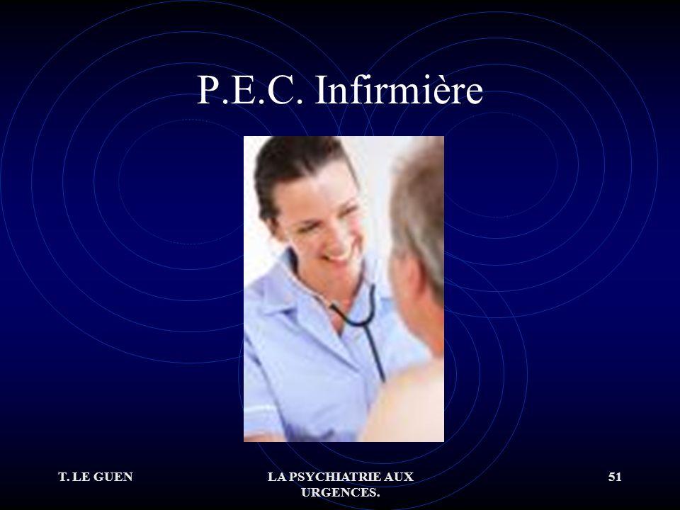 T. LE GUENLA PSYCHIATRIE AUX URGENCES. 51 P.E.C. Infirmière