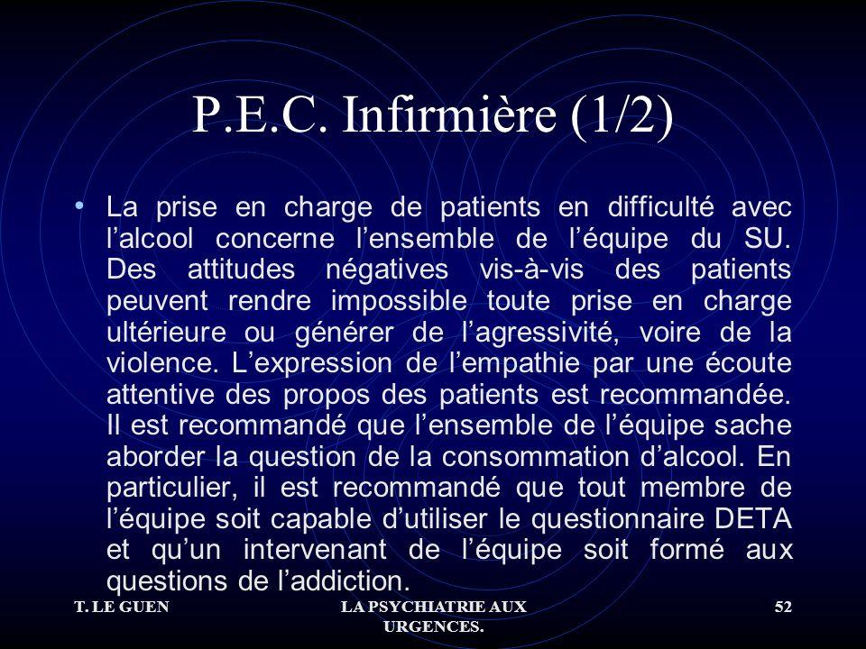 T. LE GUENLA PSYCHIATRIE AUX URGENCES. 52 P.E.C.