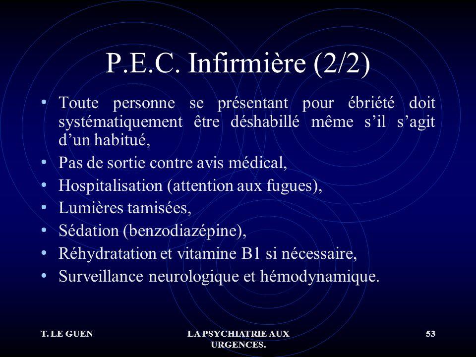 T. LE GUENLA PSYCHIATRIE AUX URGENCES. 53 P.E.C.