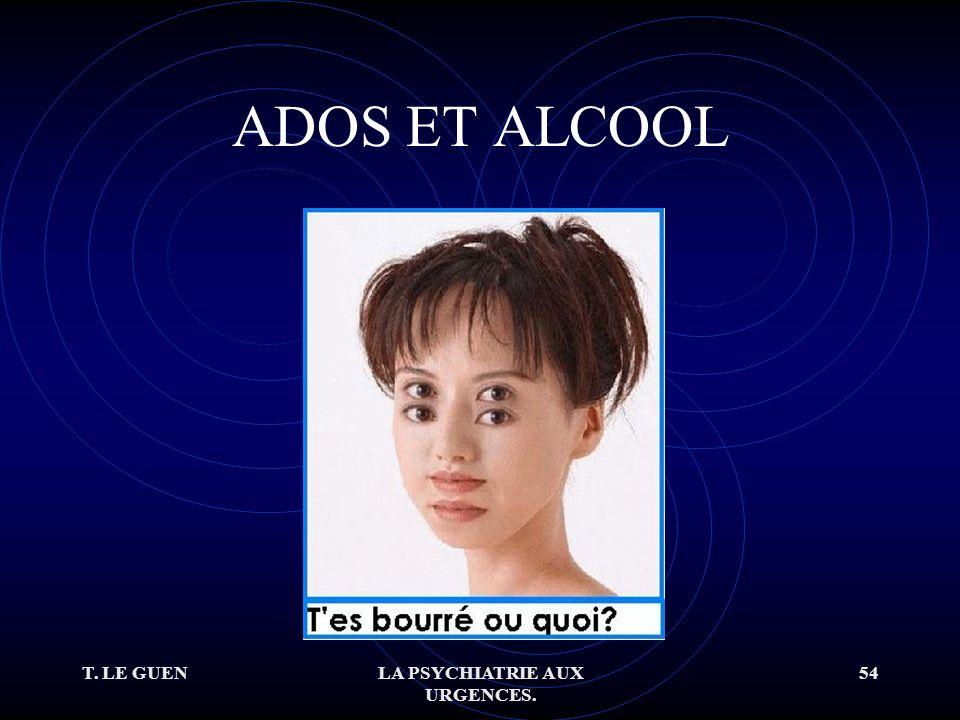 T. LE GUENLA PSYCHIATRIE AUX URGENCES. 54 ADOS ET ALCOOL