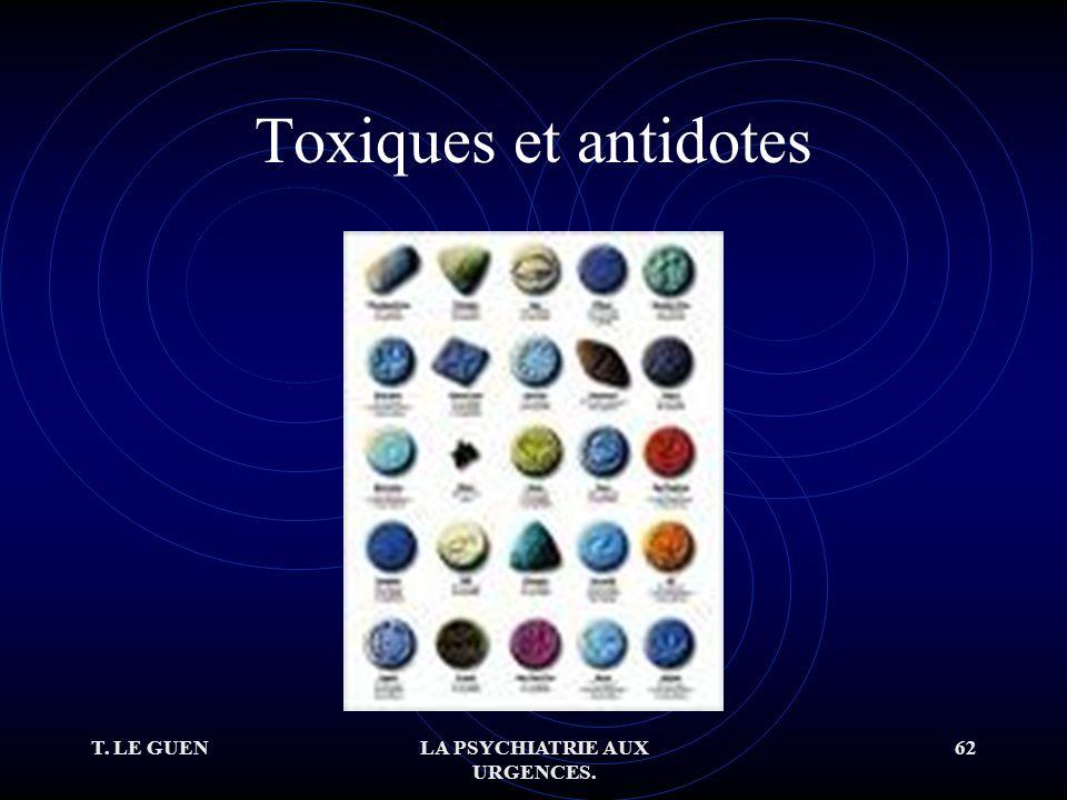 T. LE GUENLA PSYCHIATRIE AUX URGENCES. 62 Toxiques et antidotes