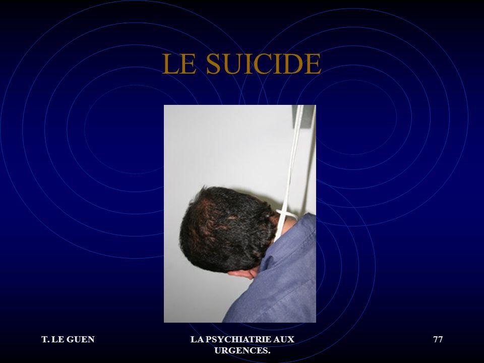 T. LE GUENLA PSYCHIATRIE AUX URGENCES. 77 LE SUICIDE