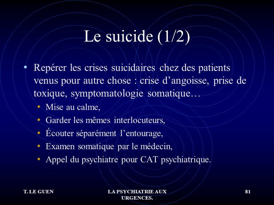 T. LE GUENLA PSYCHIATRIE AUX URGENCES.