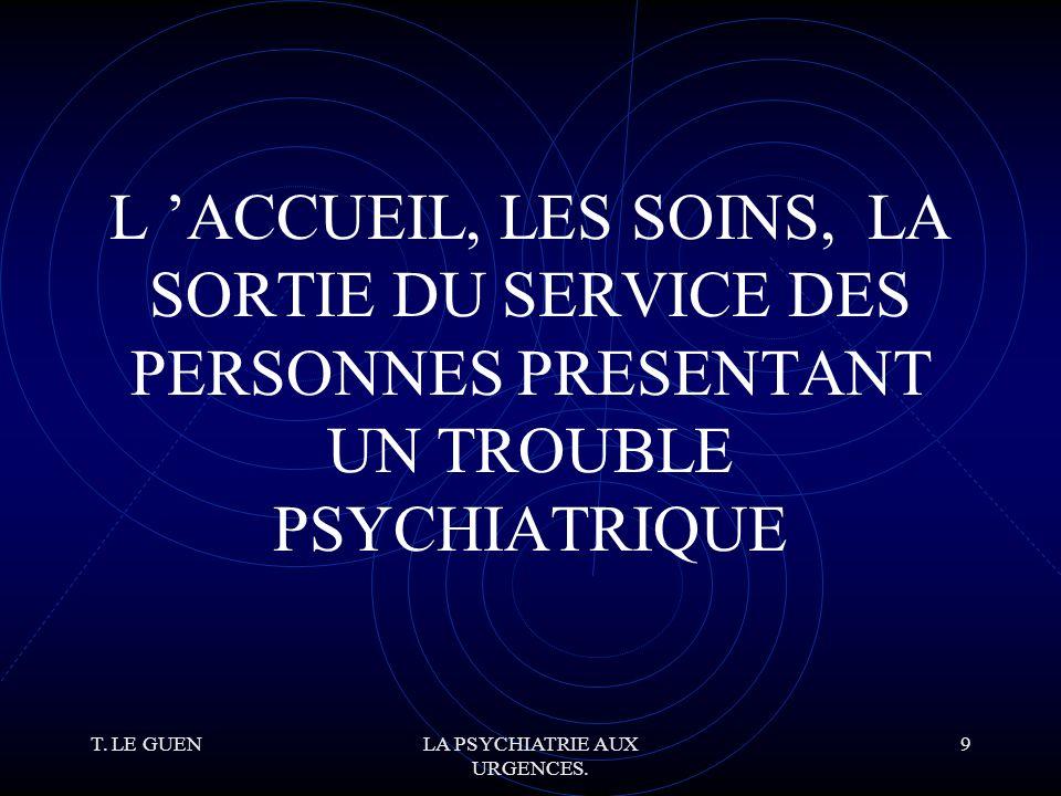 T.LE GUENLA PSYCHIATRIE AUX URGENCES. 50 P.E.C.