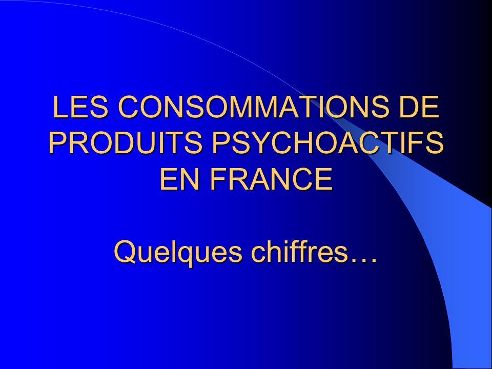 La consommation de drogues en France.