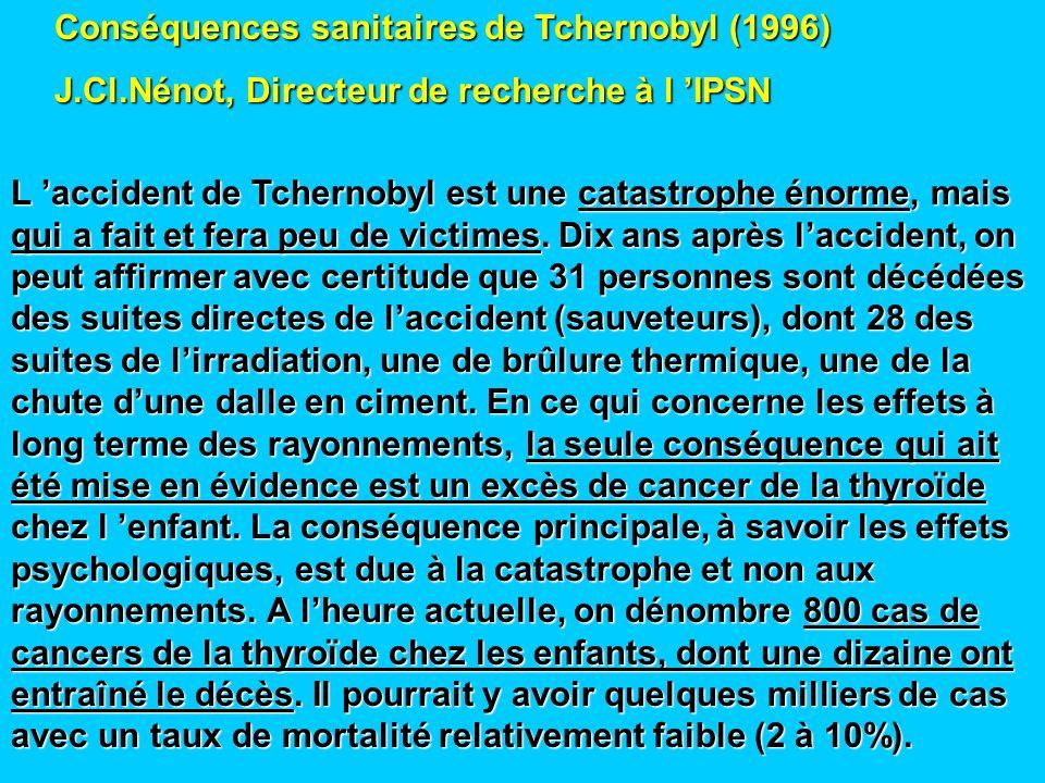 Cancers de la thyroïde (Pr A.Aurengo, Pitié-Salpétrière) Age moyen : 45/ 50 ans Trois fois plus fréquent chez les femmes 2,7 / 100 000 chez lhomme et