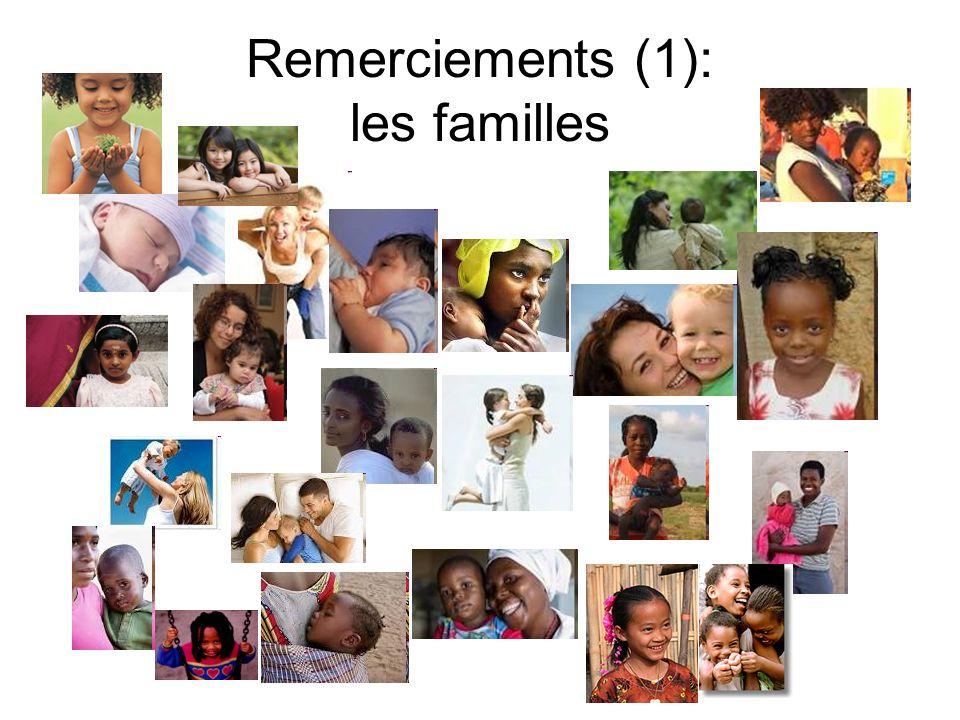 Remerciements (1): les familles