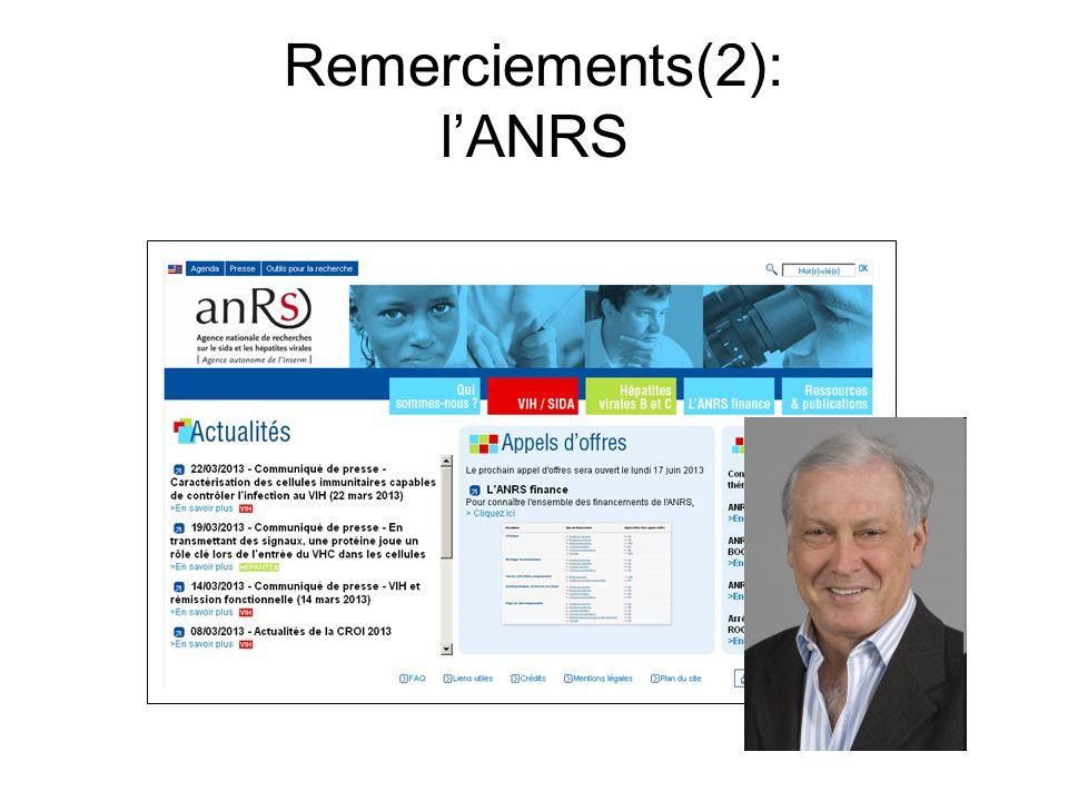 Remerciements(2): lANRS