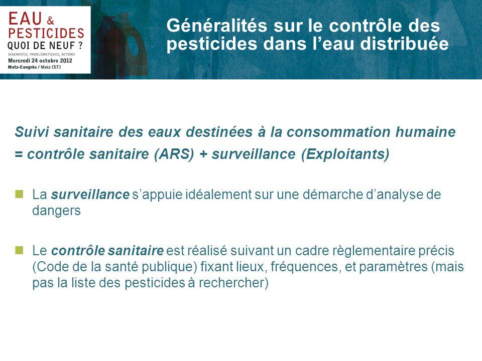 Photo dillustration Généralités sur le contrôle des pesticides dans leau distribuée Suivi sanitaire des eaux destinées à la consommation humaine = con