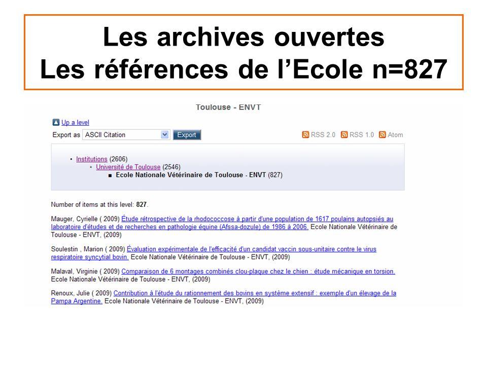 Les archives ouvertes Les références de lEcole n=827