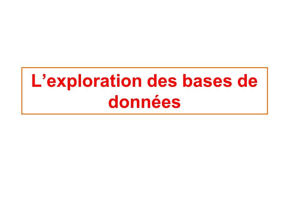 Lexploration des bases de données