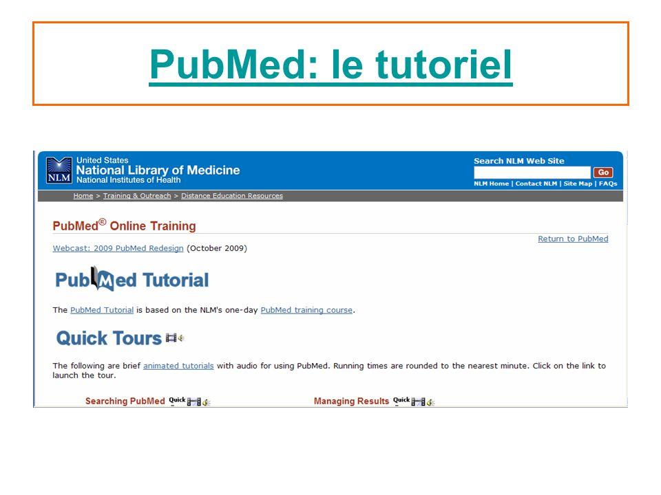 PubMed: le tutoriel