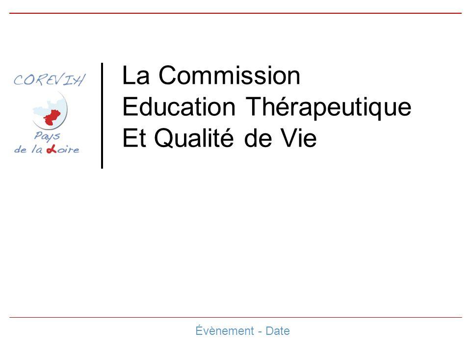 La Commission Education Thérapeutique Et Qualité de Vie Évènement - Date