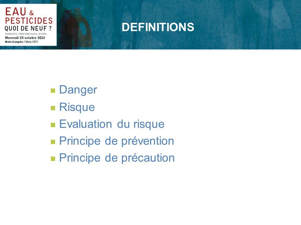 EVALUATION DU RISQUE n Etude du danger n Connaissance des fonctions Dose-Effet Dose-Réponse n Etude des expositions n Analyse du risque Scénarios pour préparer la gestion