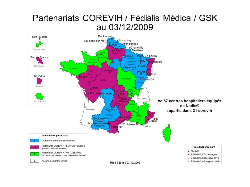 Partenariats COREVIH / Fédialis Médica / GSK au 03/12/2009 – IDF